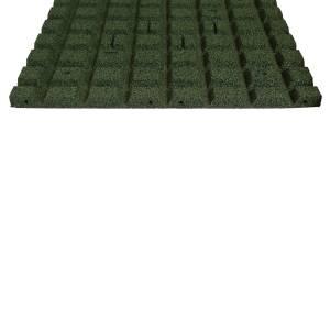 4 STÜCK = 1 m²  50 x 50 CM GUMMI FALLSCHUTZPLATTE 25 MM DICK - GRÜN Bild 9