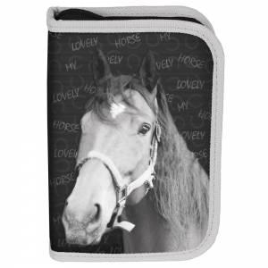 KINDER FEDERTASCHE 22-TEILIG - PFERD MY LOVELY HORSE - GRAU Bild 2