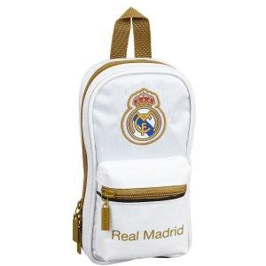 REAL MADRID - 38-TLG. FEDERTASCHE SCHREIBSET INKL. MINI-RUCKSACK - WEISS GOLD Bild 4