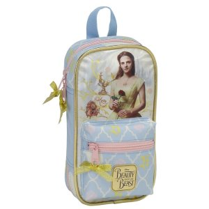 DISNEY - THE BEAUTY AND THE BEAST - 38-TLG. FEDERTASCHE SCHREIBSET INKL. MINI-RUCKSACK