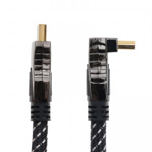 HDMI KABEL KUPFER HIGHSPEED MIT ETHERNET 1x WINKELSTECKER VERGOLDET - 1,8 m