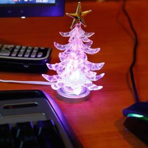 USB WEIHNACHTSBAUM 4 FARBEN LED Bild 2