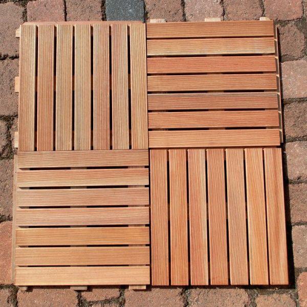 Premium bangkirai hartholz 50x50 cm bodenfliese for Fenster 50x50