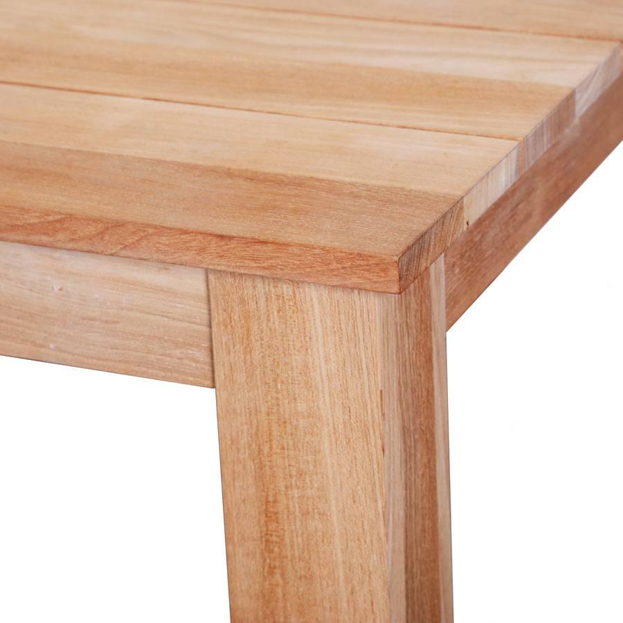 Tisch Terrasse vivagardea 220 x 90 cm tisch aus plantagenteak teakholz tisch holztisch terrasse ebay