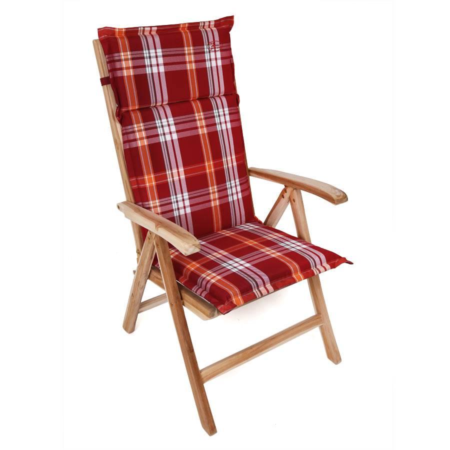 au83 auflage f r hochlehner 119 x 44 5 cm rot weiss kariert. Black Bedroom Furniture Sets. Home Design Ideas