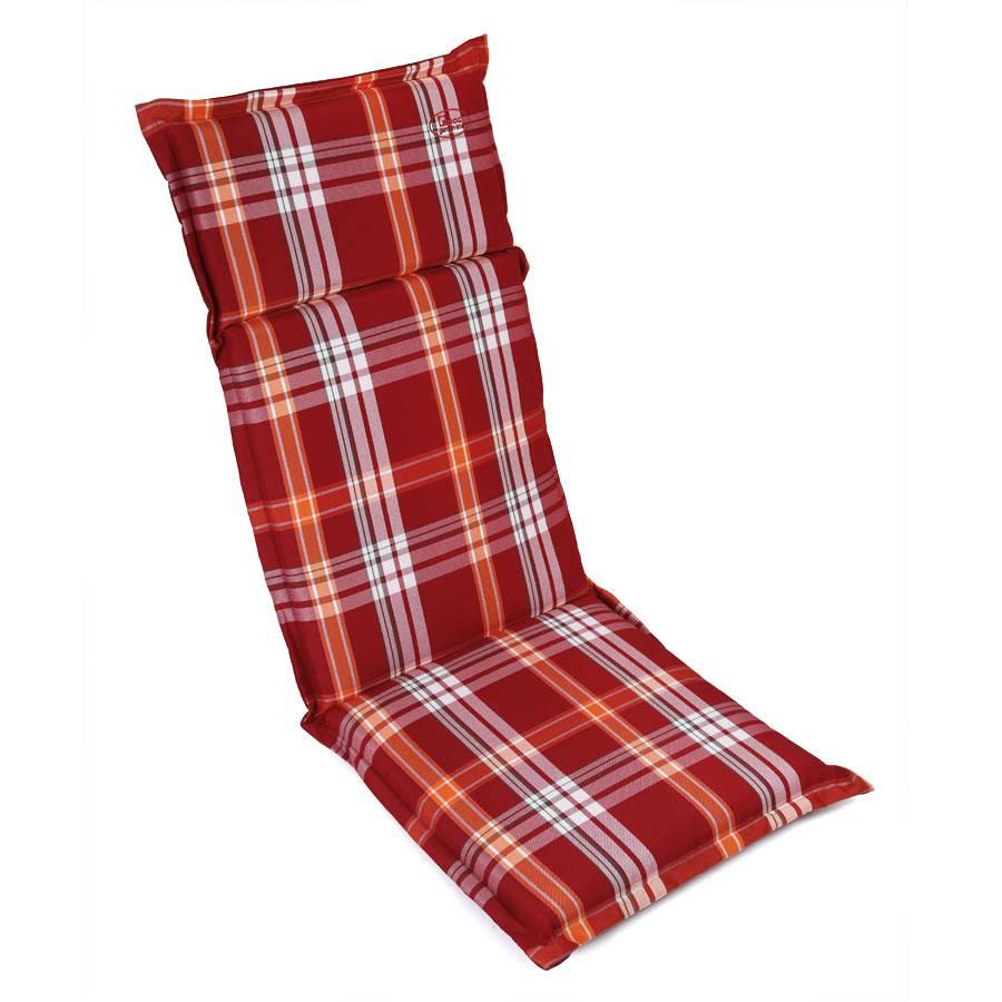 stuhl hochlehner auflage polsterauflage sitzpolster rot wei mit reissverschluss ebay. Black Bedroom Furniture Sets. Home Design Ideas