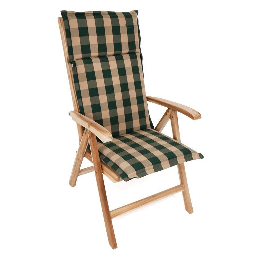 stuhl hochlehner auflage polsterauflage sitzpolster gr n mit reissverschluss ebay. Black Bedroom Furniture Sets. Home Design Ideas