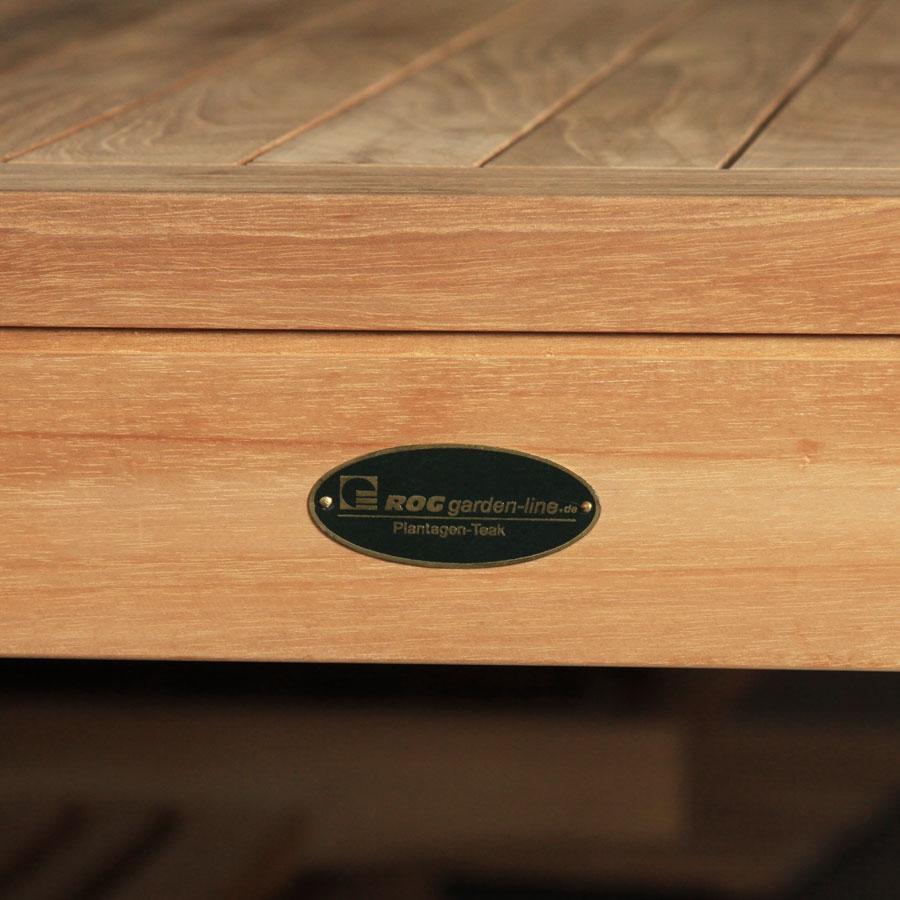 Gartentisch holz 90x90 gartentisch aus holz in braun for Glastisch 90x90