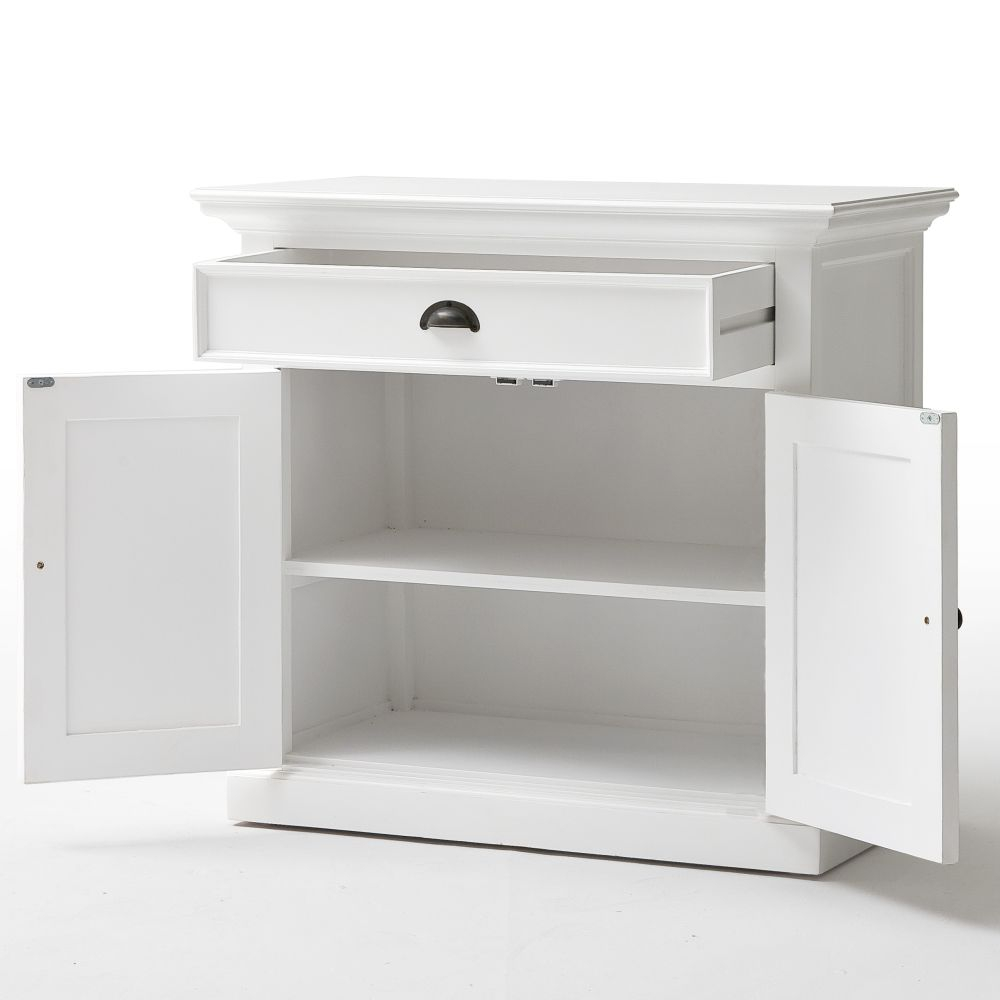 nova solo sideboard kommode schrank anrichte landhausstil wei massiv mahagoni ebay. Black Bedroom Furniture Sets. Home Design Ideas