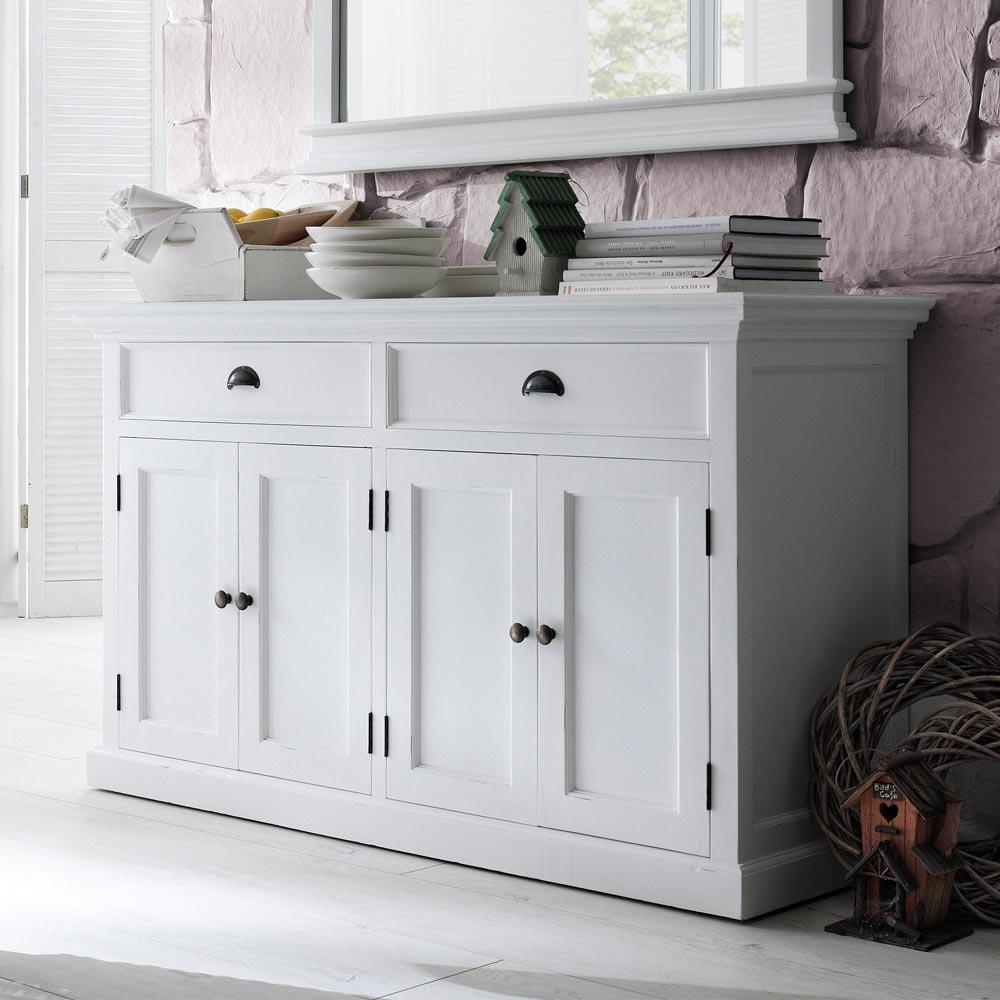 nova solo massiv sideboard kommode schrank anrichte mahagoni landhausstil wei ebay. Black Bedroom Furniture Sets. Home Design Ideas
