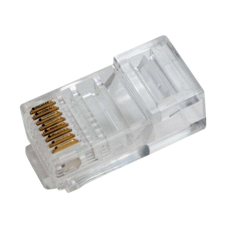 100 netzwerkkabelstecker rj45 f r flachkabel netzwerk kabel stecker zum crimpen ebay. Black Bedroom Furniture Sets. Home Design Ideas