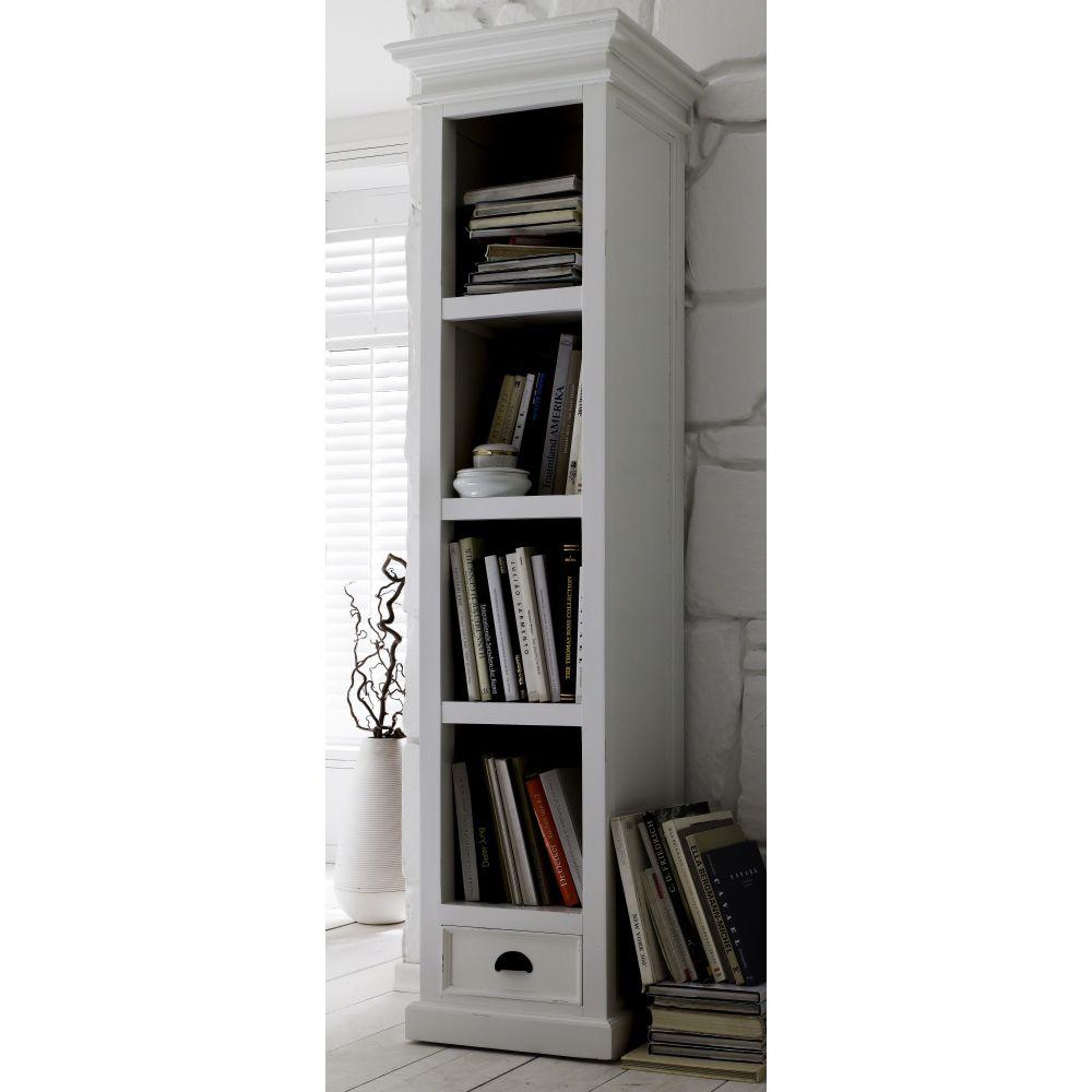 nova solo b cherregal 190 cm regal mit schublade wei landhausstil hamburg. Black Bedroom Furniture Sets. Home Design Ideas