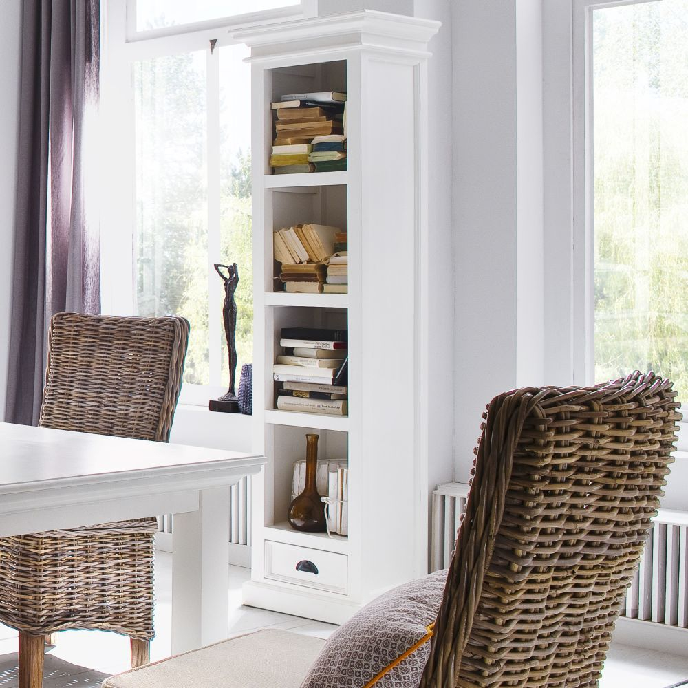 nova solo b cherregal 190 cm regal mit schublade wei landhausstil laden hamburg ebay. Black Bedroom Furniture Sets. Home Design Ideas