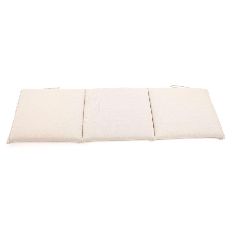Au77 auflage f r bank 3 sitzer 150 x 45 cm natur creme for Auflage schaukelstuhl natur