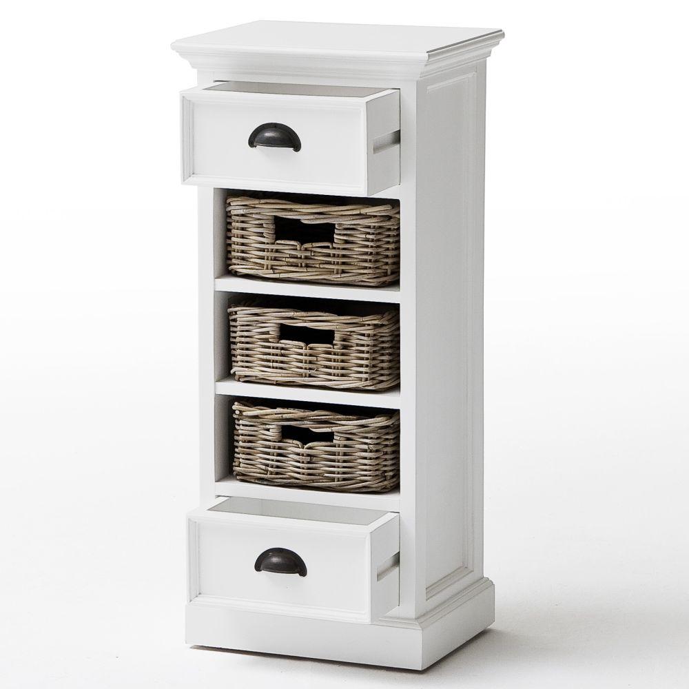 novasolo regal kommode mit 2 schubladen und 3 rattank rben. Black Bedroom Furniture Sets. Home Design Ideas