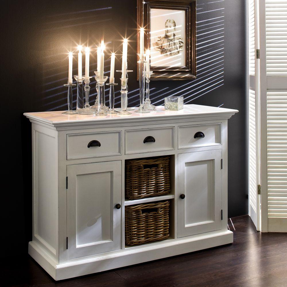novasolo kollektion halifax b129 buffetschrank kommode weiss schrank hamburg ebay. Black Bedroom Furniture Sets. Home Design Ideas