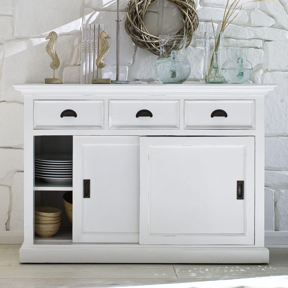 b130 buffetschrank kommode mit schiebet ren kollektion halifax teak. Black Bedroom Furniture Sets. Home Design Ideas