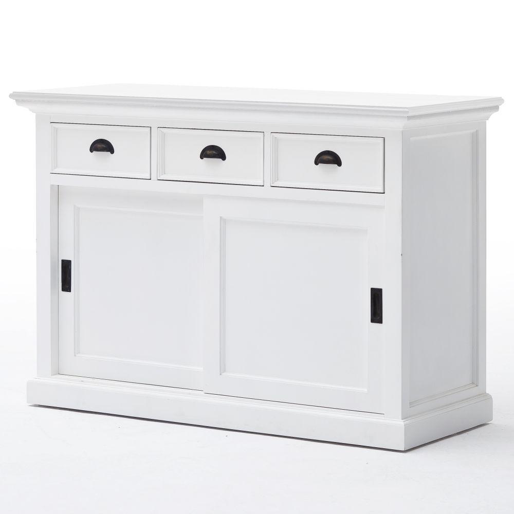 nova solo massive kommode schrank anrichte mahagoni landhausstil schiebet ren ebay. Black Bedroom Furniture Sets. Home Design Ideas