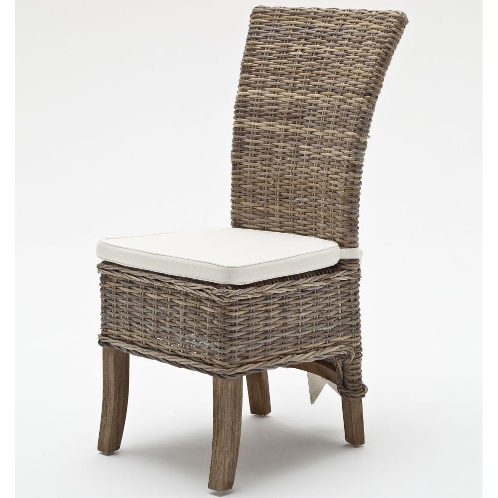 stuhl sessel aus kubu rattan landhausstil shabby look. Black Bedroom Furniture Sets. Home Design Ideas