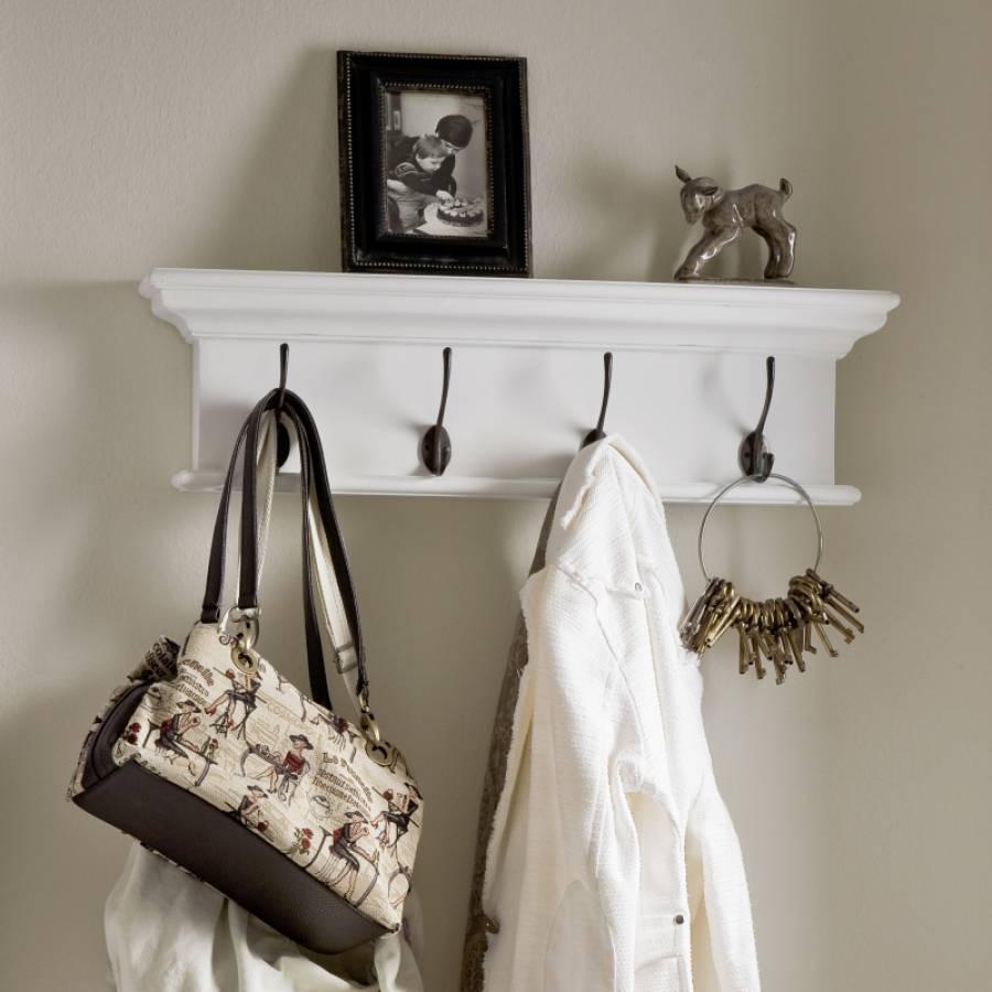 d160 wandgarderobe mit 4 haken kollektion halifax. Black Bedroom Furniture Sets. Home Design Ideas