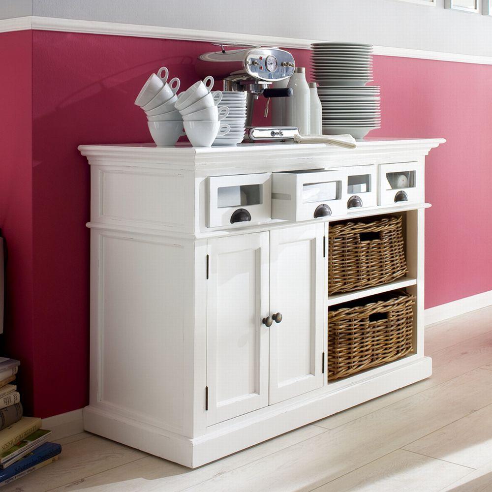 b131 buffetschrank kommode mit 2 k rben 4 schubladen 2 t ren kollektion halifax. Black Bedroom Furniture Sets. Home Design Ideas