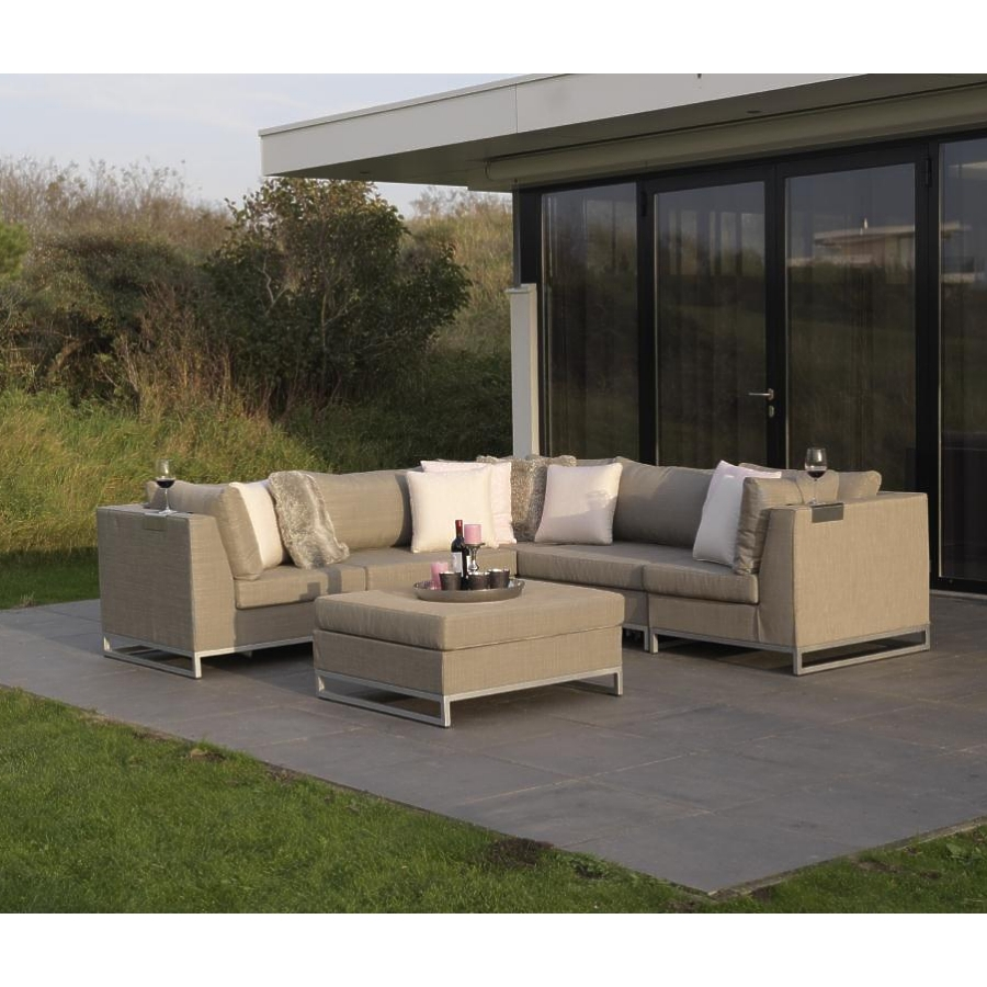 exotan ibiza lounge sitzgruppe 6 teilig taupe von persoon outdoor living couch ebay. Black Bedroom Furniture Sets. Home Design Ideas