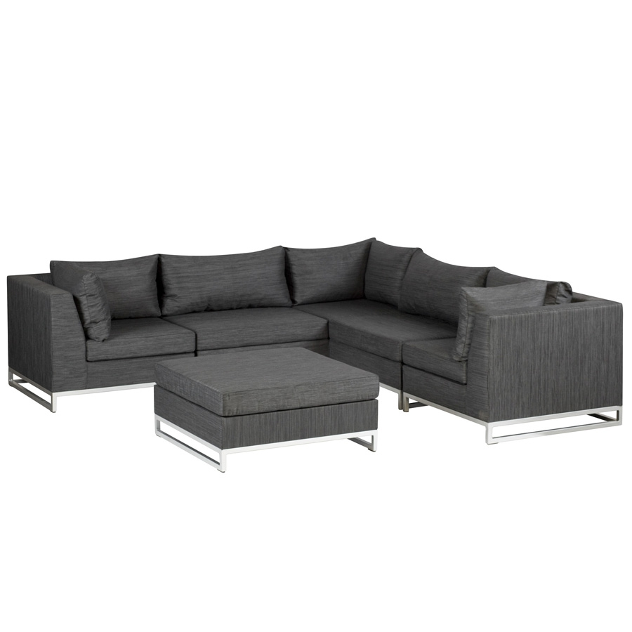 exotan ibiza garten lounge sitzgruppe 6 teile schwarz outdoorsofa polsterm bel ebay. Black Bedroom Furniture Sets. Home Design Ideas
