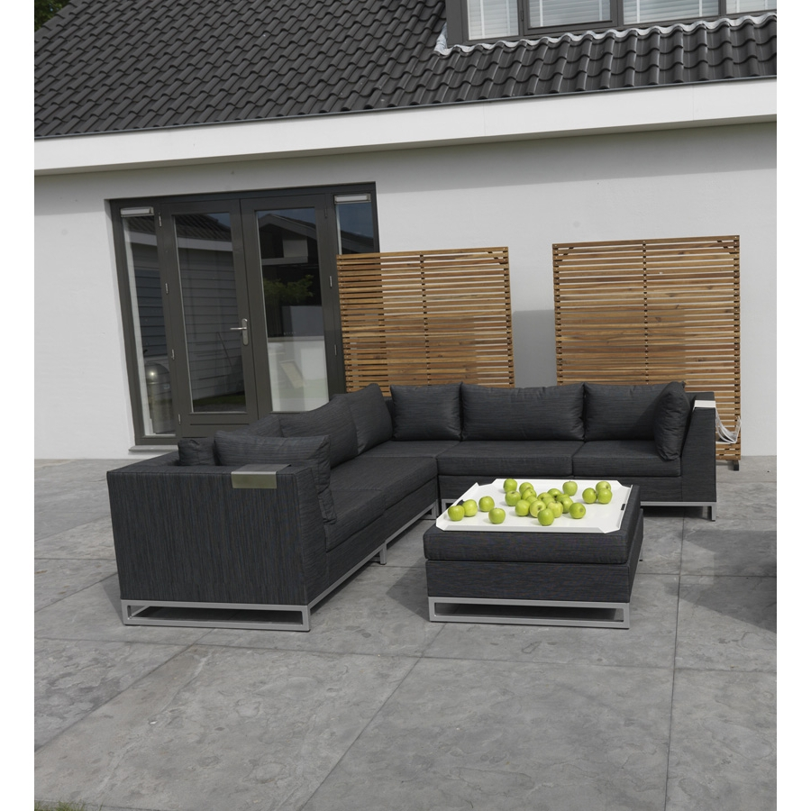 polsterecke f r terrasse wintergarten lounge sofa sitzgarnitur aussenbereich ebay. Black Bedroom Furniture Sets. Home Design Ideas