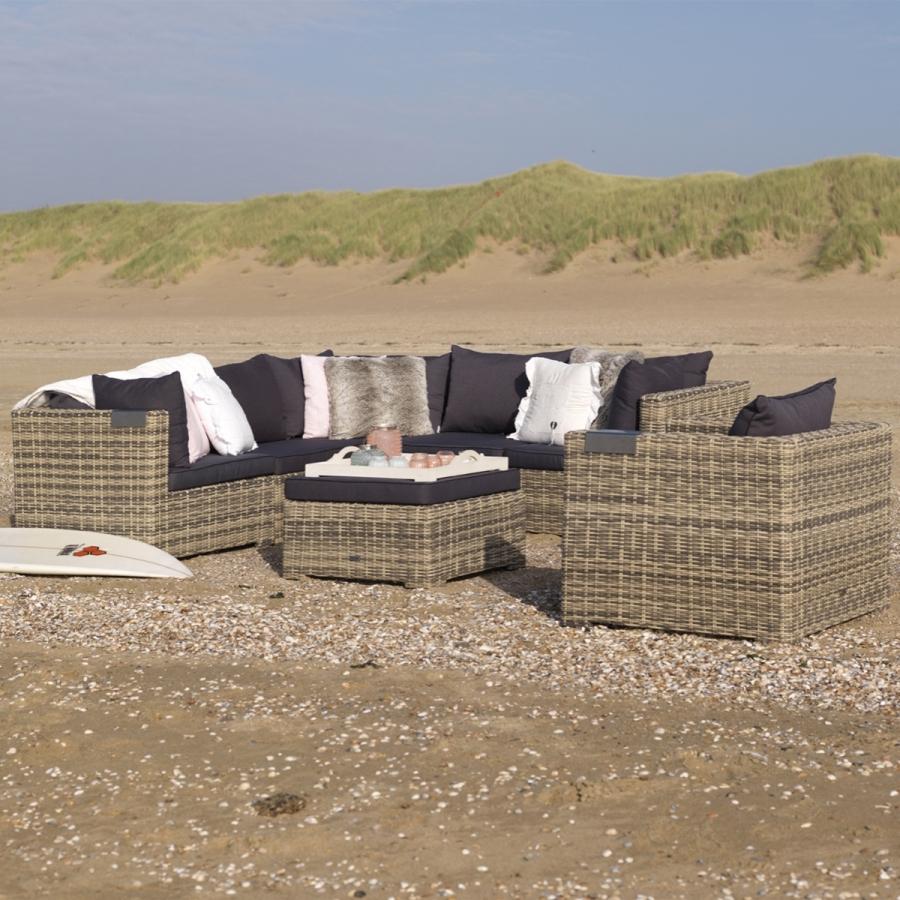 outdoor couch sitzgruppe poly geflecht lounge eck sofa. Black Bedroom Furniture Sets. Home Design Ideas