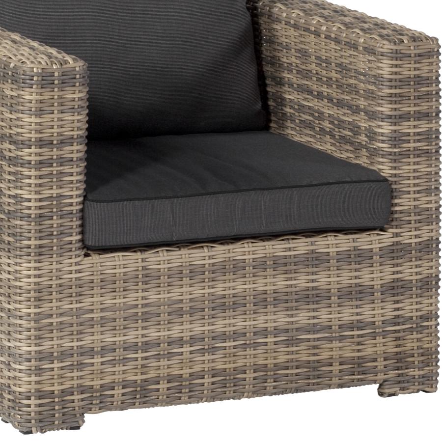 geflecht sessel f r drau en erweiterbar sofa hocker polsterm bel im garten ebay. Black Bedroom Furniture Sets. Home Design Ideas