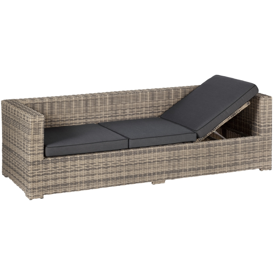 rimini lounge sofa bank 3 sitzer liegefunktion klappbar gartenliege poly rattan ebay. Black Bedroom Furniture Sets. Home Design Ideas