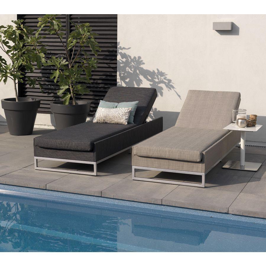 exotan ibiza sunlounger liege schwarz wetterfest outdoor lounge gartenm bel ebay. Black Bedroom Furniture Sets. Home Design Ideas