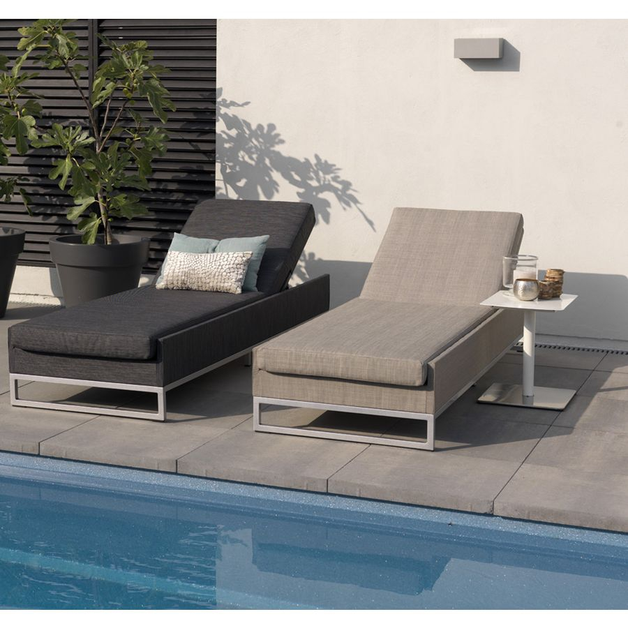 exotan ibiza sunlounger liege taupe wetterfest gartenliege outdoor lounge m bel ebay. Black Bedroom Furniture Sets. Home Design Ideas