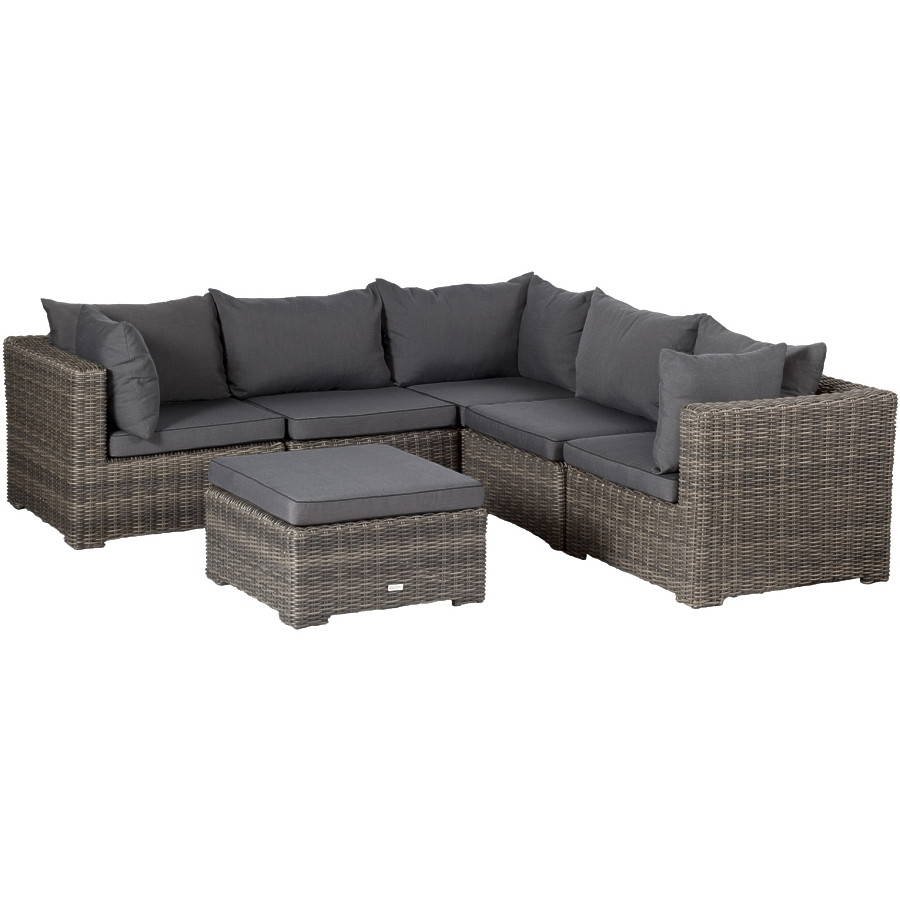 Outdoor Sitzgruppe exotan® outdoor couch sitzgruppe poly-geflecht lounge sofa gruppe