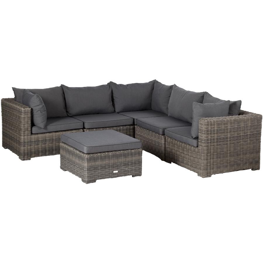 Lounge sofa outdoor  EXOTAN® RIMINI LOUNGE SITZGRUPPE 6-TEILE GEFLECHT POLY RATTAN SOFA ...
