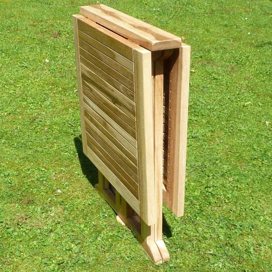 ploss eco teak balkontisch milford klappbar 120 x 60 cm gartentisch klapptisch ebay. Black Bedroom Furniture Sets. Home Design Ideas
