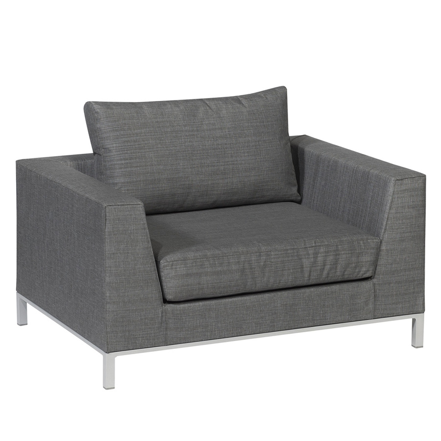 Exotan casablanca lounge sessel grau for Tv sessel grau