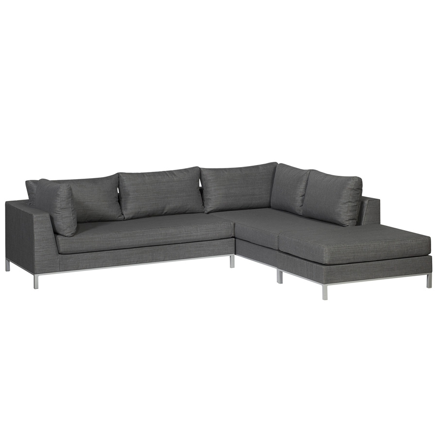exotan casablanca lounge rechts grau gartenlounge couchecke wetterfest sofa ebay. Black Bedroom Furniture Sets. Home Design Ideas