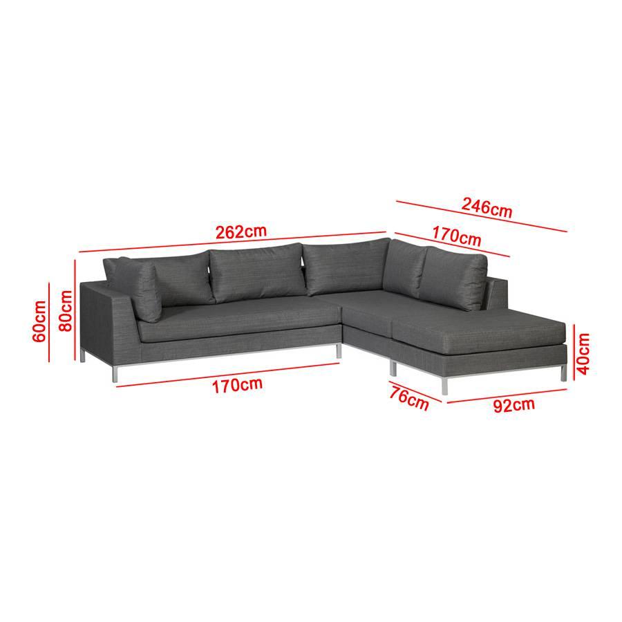 exotan casablanca lounge rechts grau gartenlounge couchecke wetterfest sofa ebay. Black Bedroom Furniture Sets. Home Design Ideas