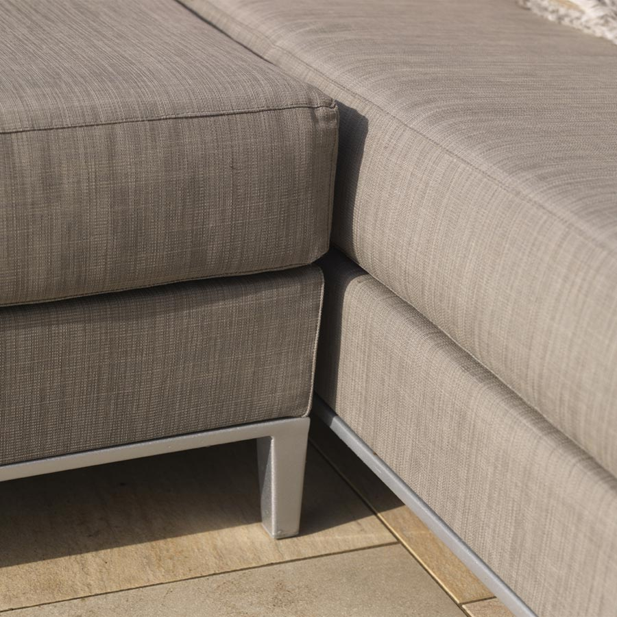 exotan casablanca lounge rechts taupe gartenlounge couchecke wetterfest sofa ebay. Black Bedroom Furniture Sets. Home Design Ideas