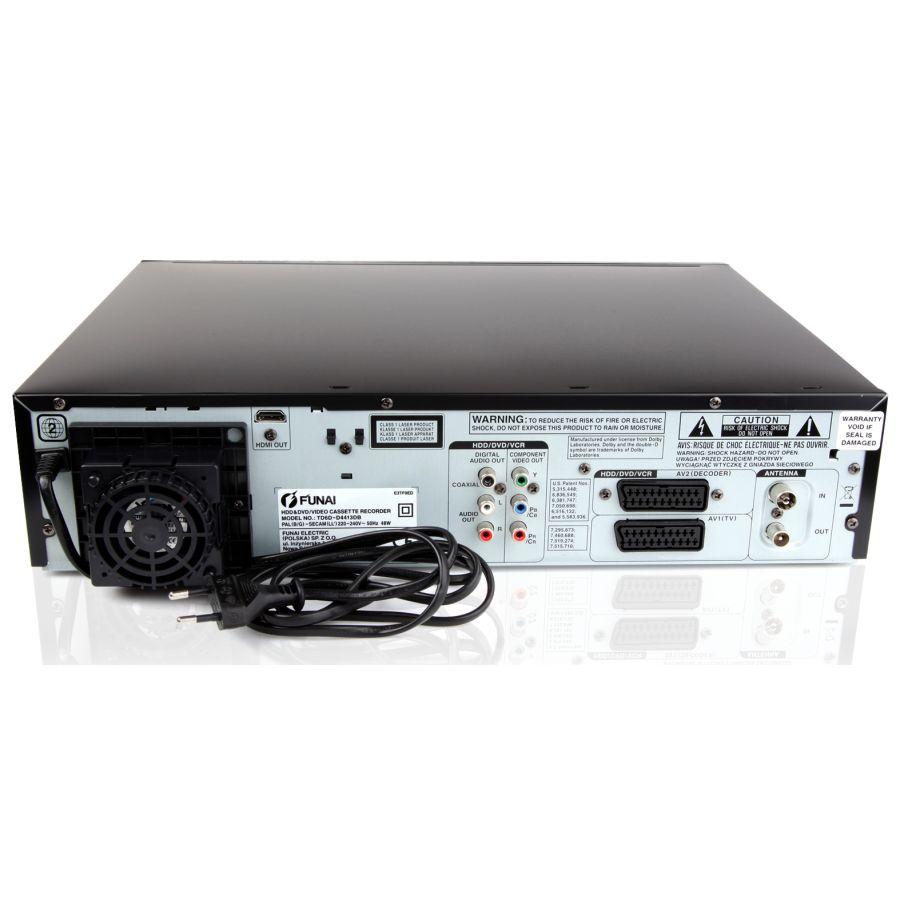 funai 500 gb hdd vhs videorecorder dvd recorder mit usb hdmi tuner b ware ebay. Black Bedroom Furniture Sets. Home Design Ideas