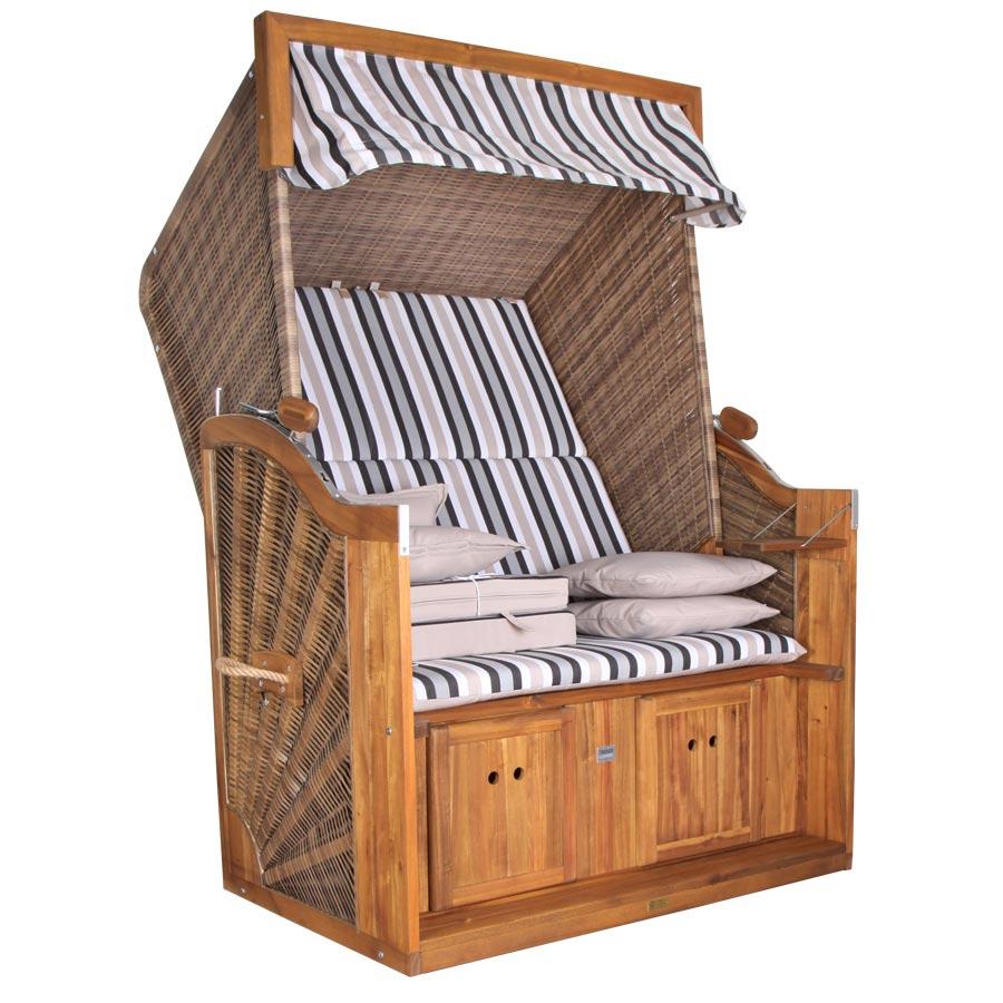 strandkorb devries trendy pure greenline 120 gestreift. Black Bedroom Furniture Sets. Home Design Ideas