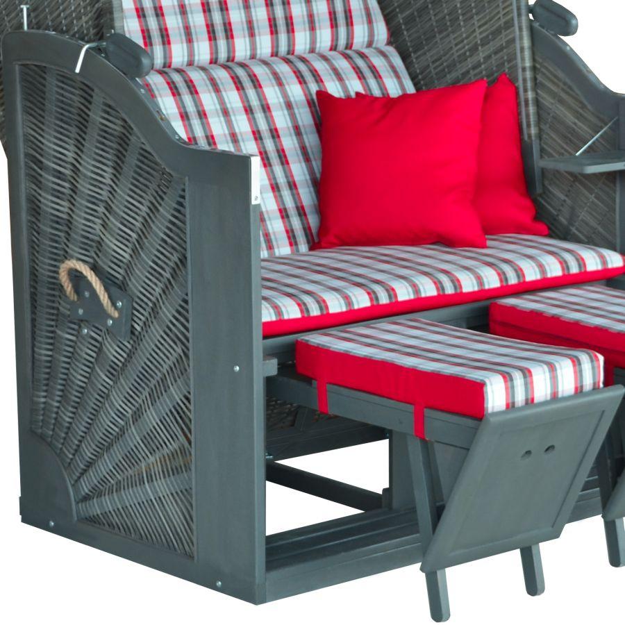 devries strandkorb durchgeflochten holz geflecht grau. Black Bedroom Furniture Sets. Home Design Ideas