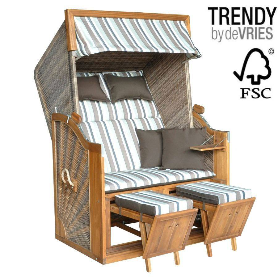 luxus strandkorb devries 140 xl dessin 628 verstellbar. Black Bedroom Furniture Sets. Home Design Ideas