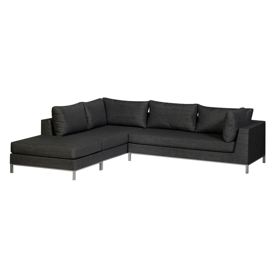 exotan casablanca lounge schwarz strandlounge garten sofa wetterfest robust ebay. Black Bedroom Furniture Sets. Home Design Ideas