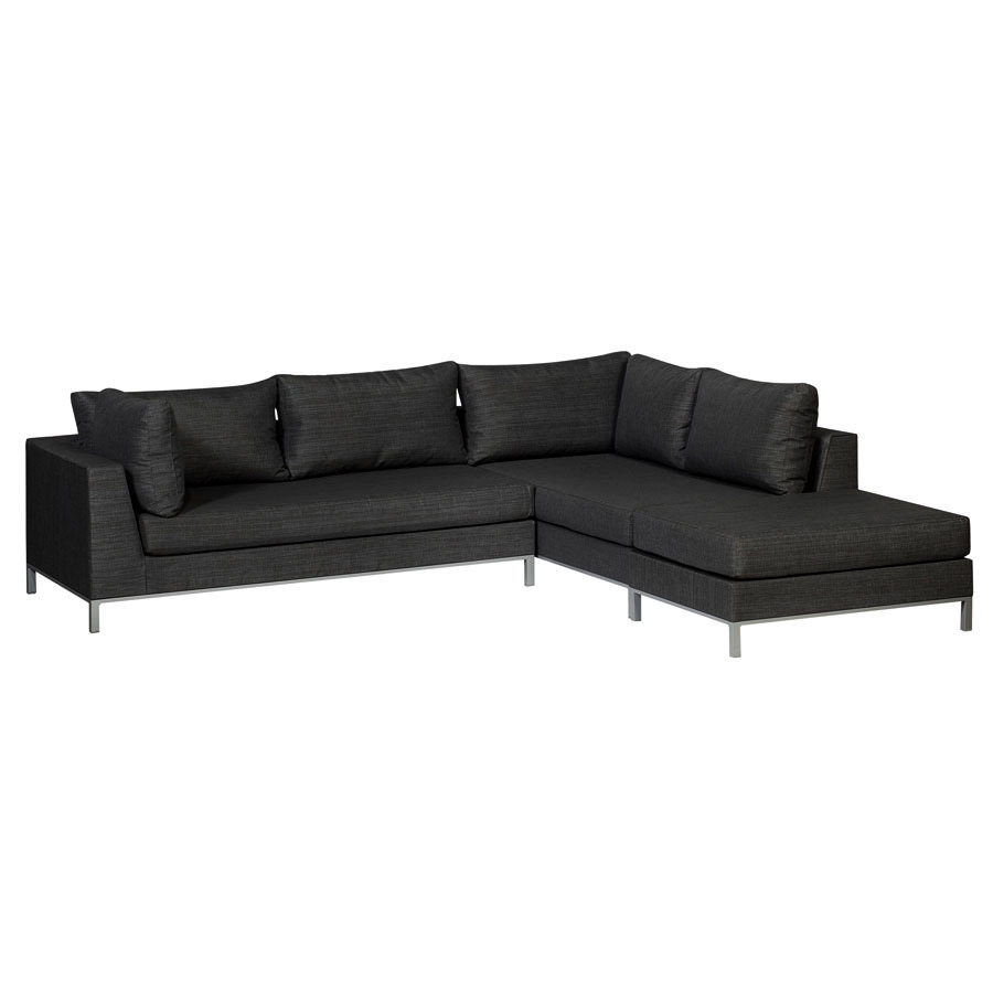 exotan casablanca lounge schwarz gartenlounge wetterfest garten couch sofa ebay. Black Bedroom Furniture Sets. Home Design Ideas