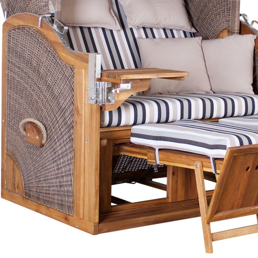 extrabreiter luxus strandkorb devries pure 170 xl kissen. Black Bedroom Furniture Sets. Home Design Ideas