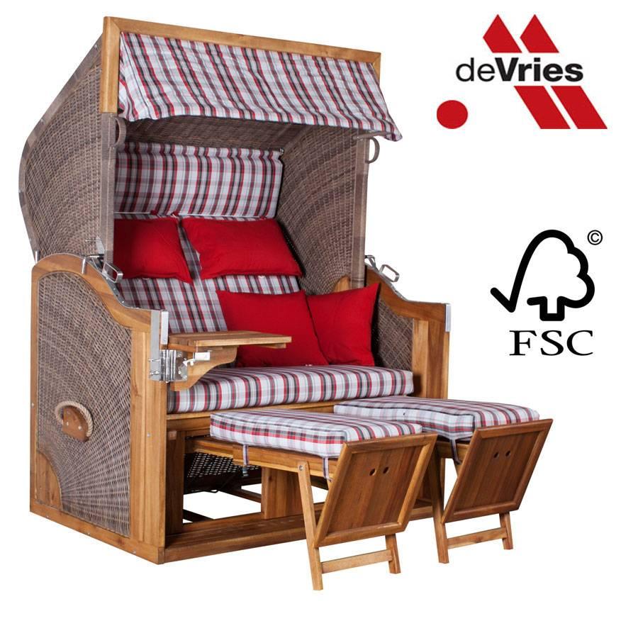 strandkorb devries pure greenline 170 xl dessin 700 fsc. Black Bedroom Furniture Sets. Home Design Ideas