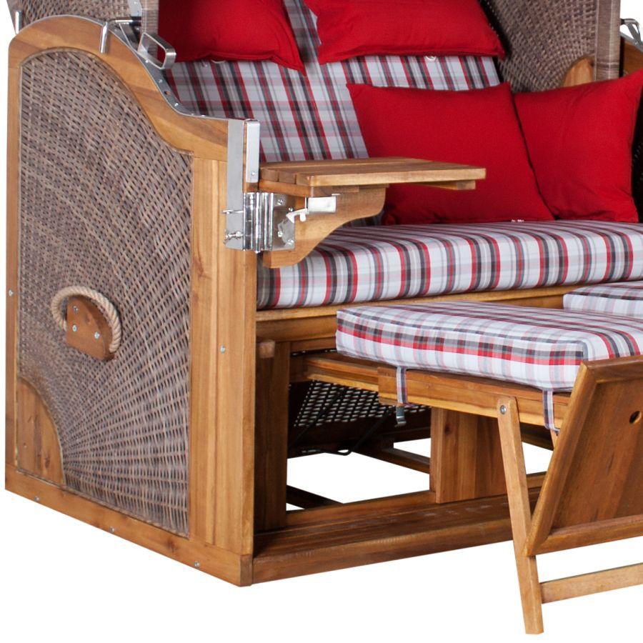 premium strandkorb durchgeflochten devries pure greenline. Black Bedroom Furniture Sets. Home Design Ideas