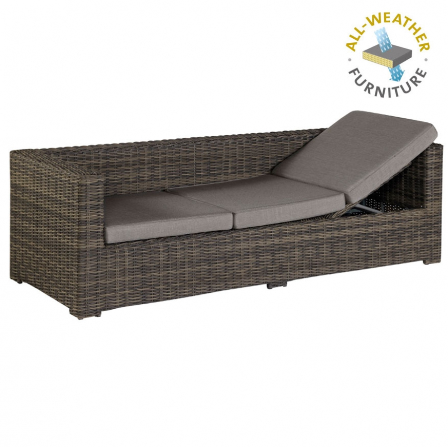Exotan rimini lounge sofa bank liege loungeliege f r for Sofa fur garten